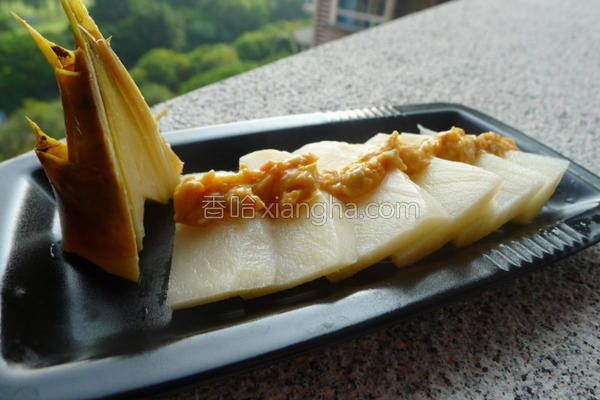 绿竹笋佐鱼卵沙拉的做法