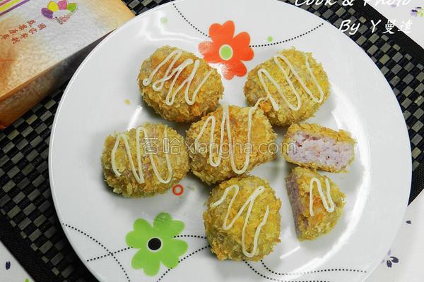 彩米可乐饼的做法