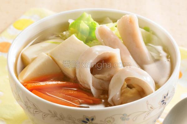 豆腐海鲜汤的做法