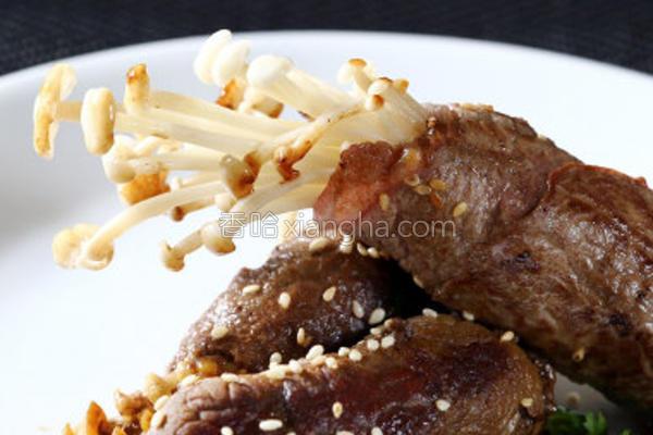 金针菇肉卷的做法