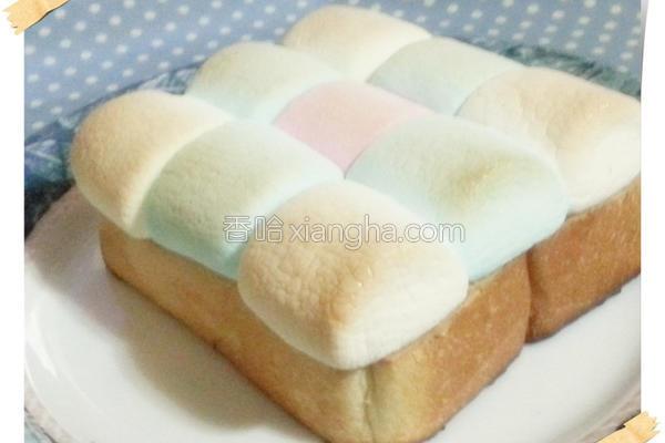 棉花糖花生吐司的做法