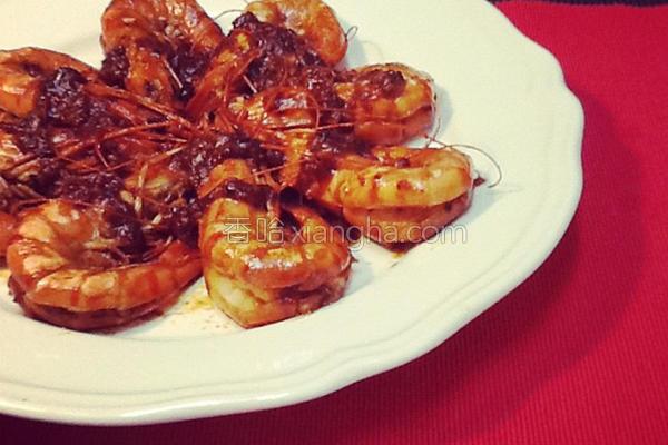 红麹干烧大虾的做法