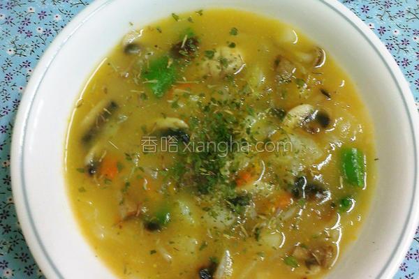 马铃薯蘑菇浓汤的做法