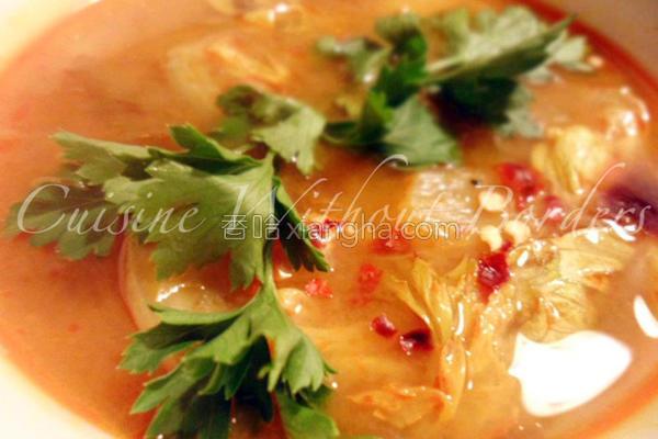 泰式香辣柠檬虾汤的做法
