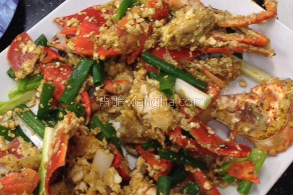食金沙螃蟹的做法