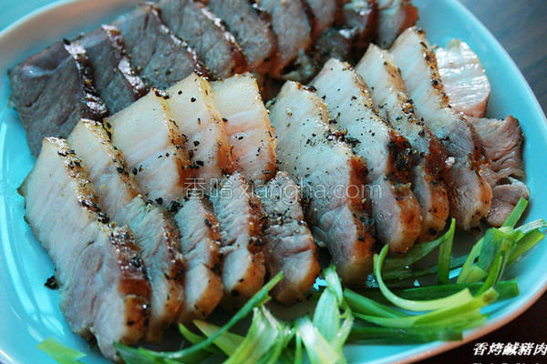 香烤咸猪肉的做法