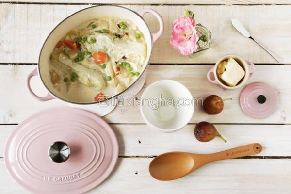 风奶油炖白菜的做法