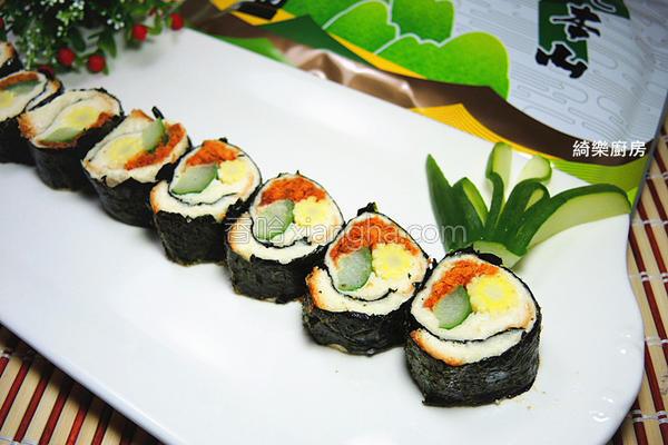 海苔土司寿司的做法