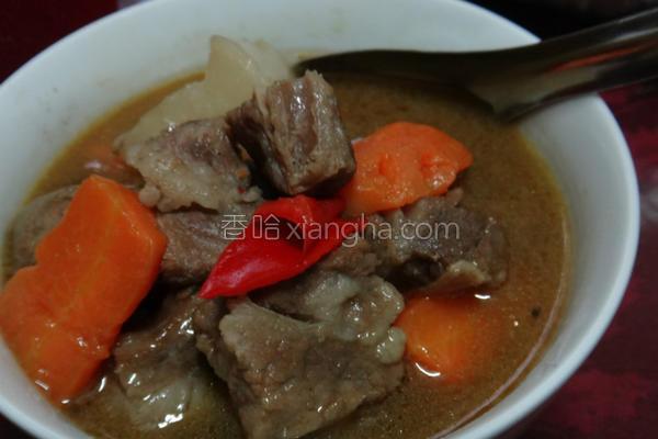 香辣牛肉汤的做法