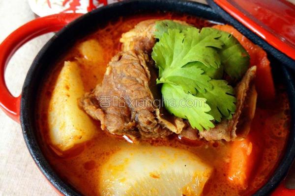 川霸子萝卜炖牛肉的做法