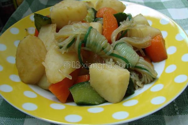 薯芋炖魔芋的做法