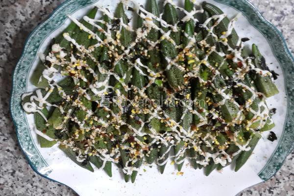 甘松紫秋葵沙拉的做法
