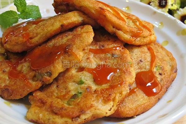 山药鲜虾煎饼的做法