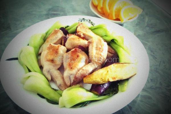 甜薯饟鸡趐的做法