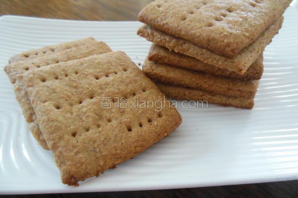 蜂蜜全麦消化饼干的做法