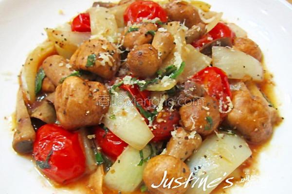 奶油番茄蘑菇烧的做法