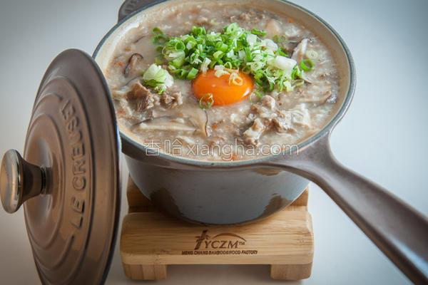 香菇滑蛋牛肉粥的做法