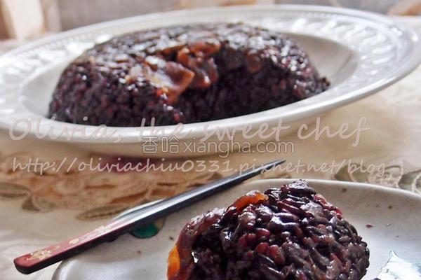 桂圆紫米甜糕的做法