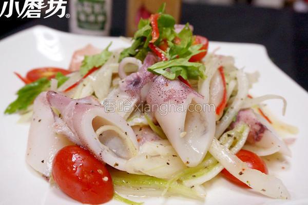 海苔芥末凉拌鱿鱼的做法