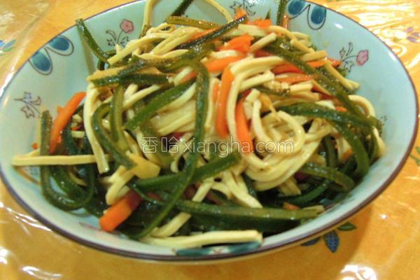 海带炒豆干丝的做法