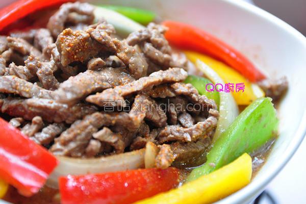 彩椒炒牛肉丝的做法