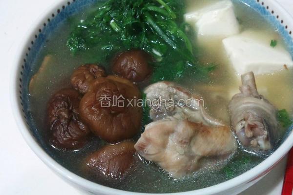 豆腐香菇鸡汤