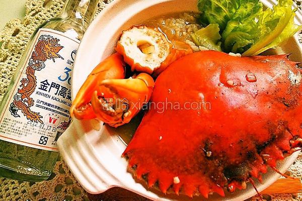 酒香锯缘青蟹粥的做法