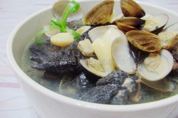 蒜头蛤蜊乌骨鸡汤的做法