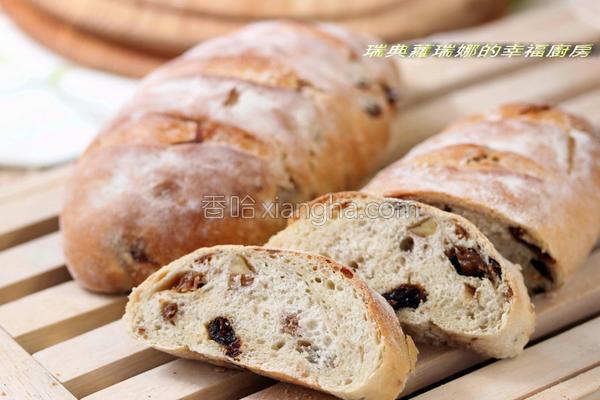 酒香桂圆核桃面包的做法