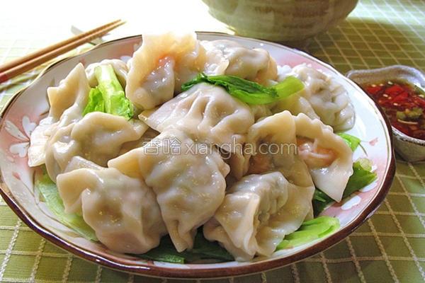 葱肉虾味饺的做法