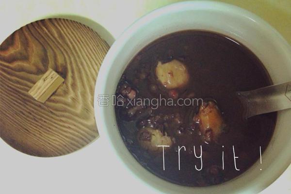 桂圆红豆紫米粥的做法