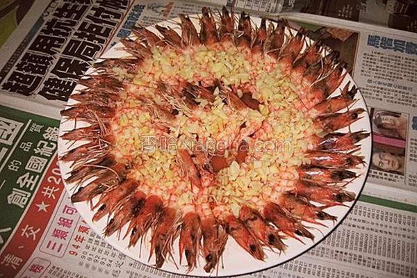 蒜泥烘虾的做法