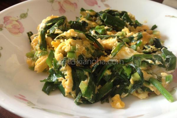 韭菜嫩蛋的做法