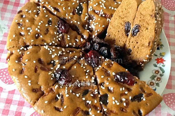 坚果黑糖糕的做法