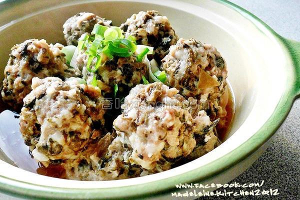 梅干菜肉丸子的做法