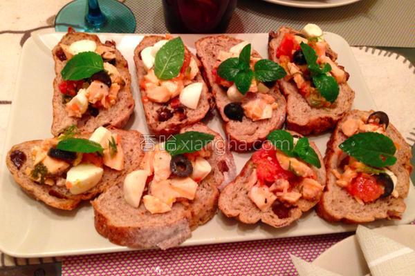 鲔鱼橄榄面包小点的做法