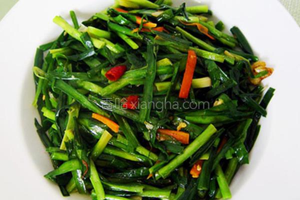 蒜香韭菜的做法