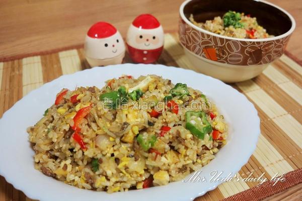 中式蚝油缤纷炒饭的做法