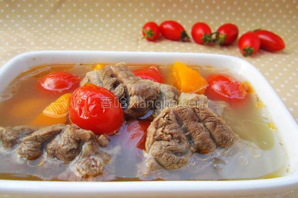 番茄牛肉清汤的做法