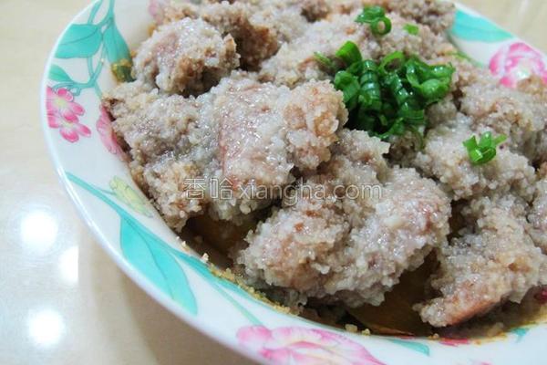 地瓜粉蒸肉的做法