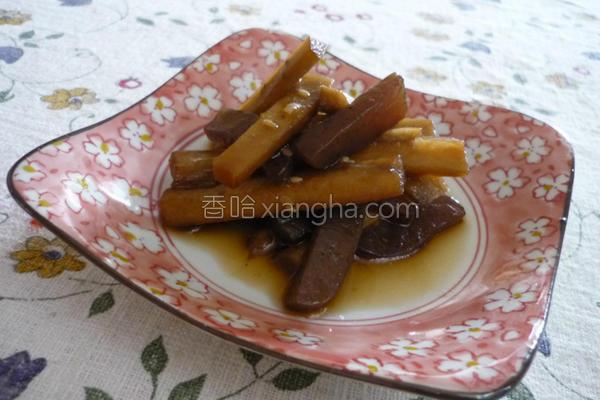 牛蒡魔芋酱油渍的做法