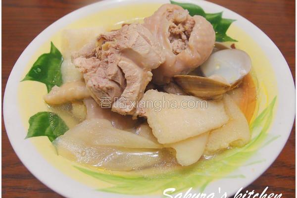 蛤蜊竹笙鸡汤的做法