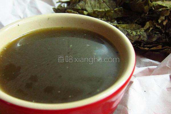 桑叶芝麻养生汤的做法