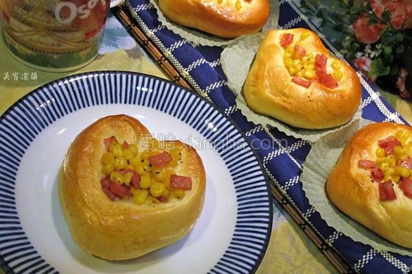 火腿玉米面包的做法