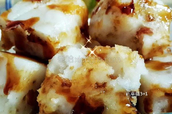 剩饭料理油葱粿的做法