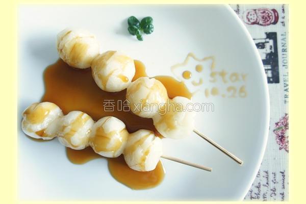日式酱油串丸子的做法