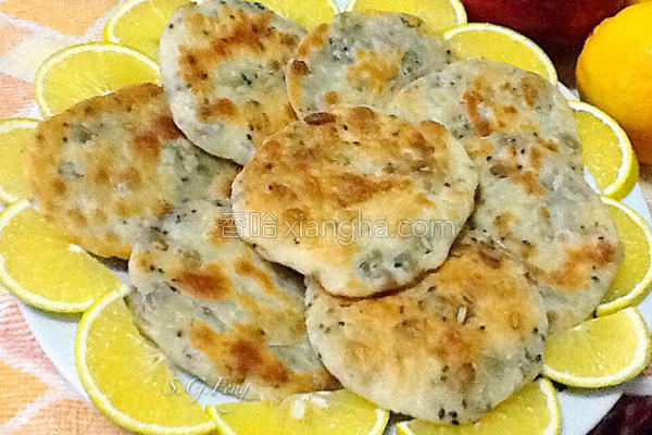 南瓜籽芝麻小煎饼的做法