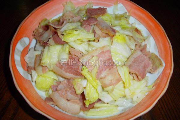 培根炒高丽菜的做法
