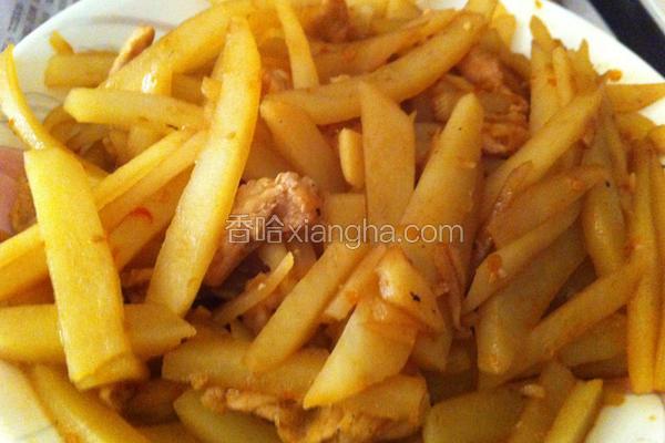 马铃薯炒肉丝