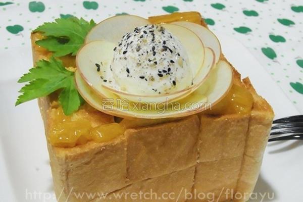 日式苹果蜜糖吐司的做法